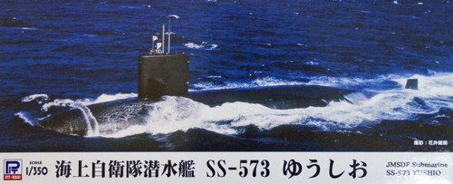 Pit-Road Skywave JB-10 JMSDF Submarine SS-573 YUSHIO 1/350 Scale Kit