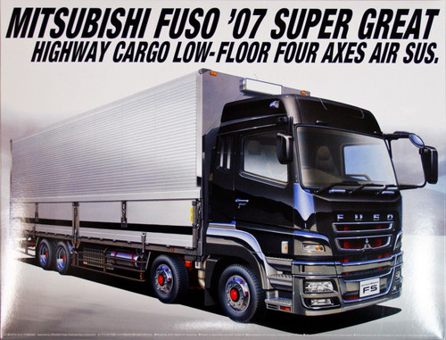 Aoshima 00212 Mitsubishi Fuso '07 Super Great Highway Cargo Truck 1/32 Scale Kit