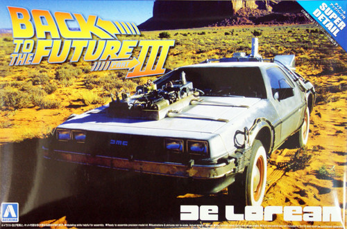 Aoshima 06207 Back to the Future Part 3 Delorean (Super Detail) 1/24 Scale Kit
