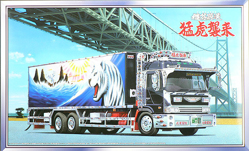 Aoshima 42236 WHITE TIGER Japanese Reefer Truck 1/32 Scale Kit