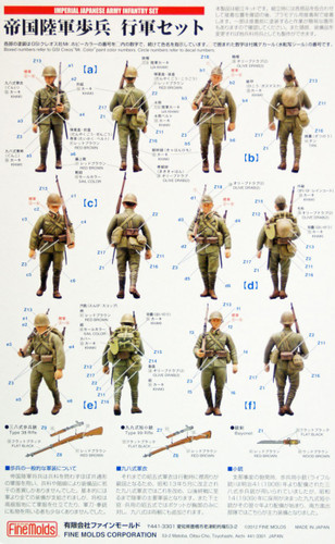 Fine Molds FM37 Imperial Japanese Army Infantry Set (6 soldiers) 1/35 Scale Kit