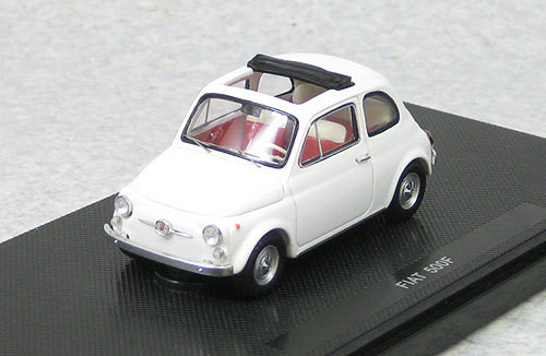 Ebbro 44461 Fiat 500F 1965 White (Resin Model) 1/43 Scale