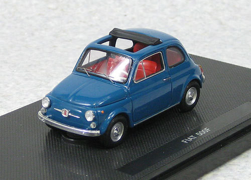 Ebbro 44463 Fiat 500F 1965 Blue (Resin Model) 1/43 Scale