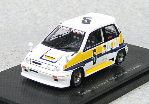 Ebbro 44473 Honda City Turbo R #5 Suzuka 1982 K.Acheson (Resin) 1/43 Scale