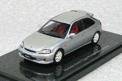 Ebbro 44611 Honda Civic Type-R EK9 1998 Late Version (Silver) 1/43 Scale