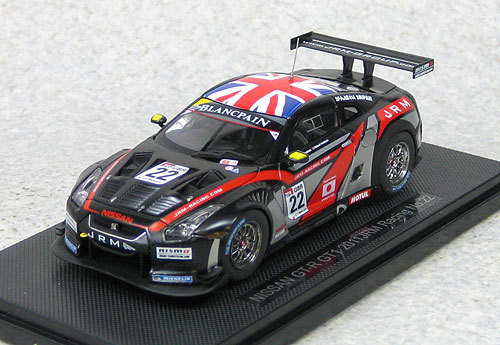 Ebbro 44712 Nissan GT-R GT1 2011 JRM Racing #22 (Black) 1/43 Scale
