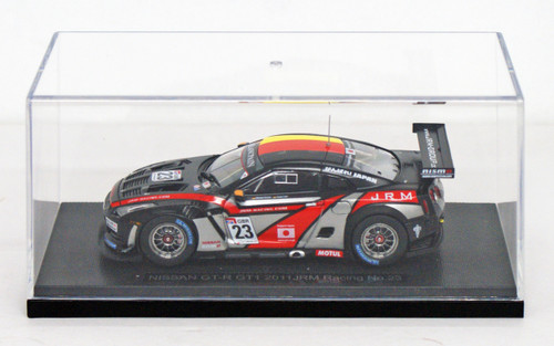 Ebbro 44713 Nissan GT-R GT1 2011 JRM Racing #23 (Black) 1/43 Scale