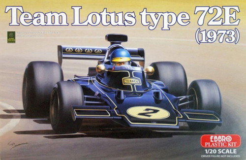 Ebbro 20003 Team Lotus type 72E (1973) 1/20 Scale plastic model Kit