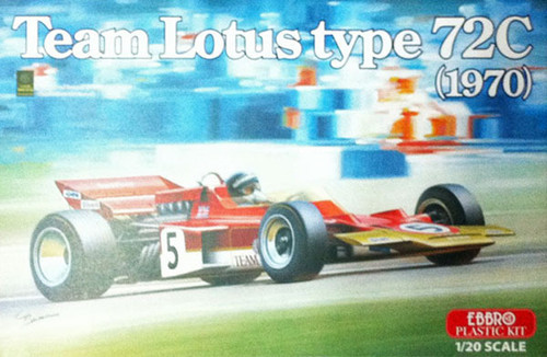 Ebbro 20001 Team Lotus type 72C (1970) 1/20 Scale plastic model Kit