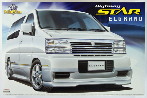 Aoshima 07044 Nissan ElGrand Highway Star 1/24 Scale Kit