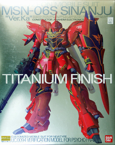 Bandai MG 620514 Gundam MSN-06S Sinanju VersionKa Titanium Finish 1/100 Scale Kit