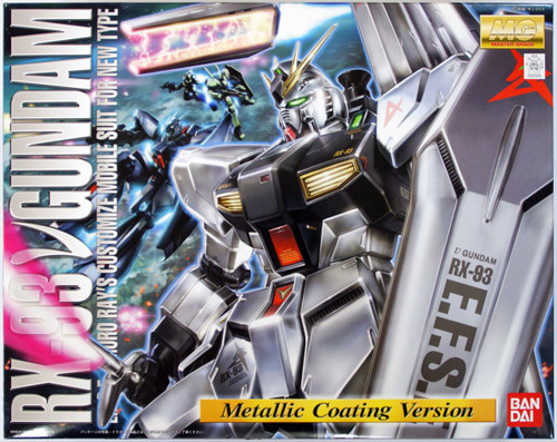 Bandai MG 523747 RX-93 Nu Gundam (Metallic Coating Version) 1/100 Scale Kit