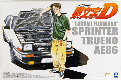 Aoshima 03206 Initial D T.Fujiwara 86 Trueno (Comics Vol.1 Version) 1/24 Scale Kit