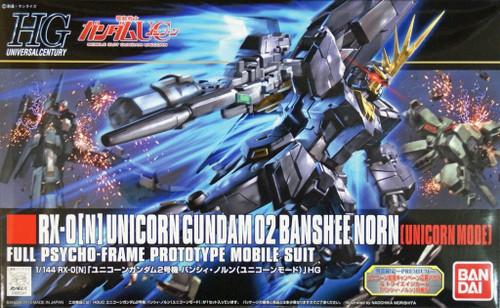 Bandai HGUC 153 Gundam RX-0(N) UNICORN Gundam 02 BANSHEE NORN (UNICIRN MODE) 1/144 Scale Kit