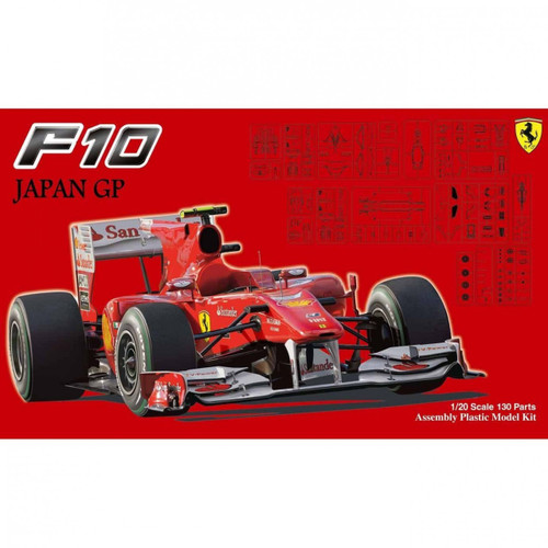 Fujimi GP SP18 F1 Ferrari F10 Japan GP Skeleton Body 1/20 Scale Kit