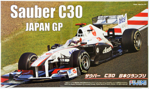 Fujimi GP SP19 F1 Sauber C30 Japan GP with Helmet 1/20 Scale Kit