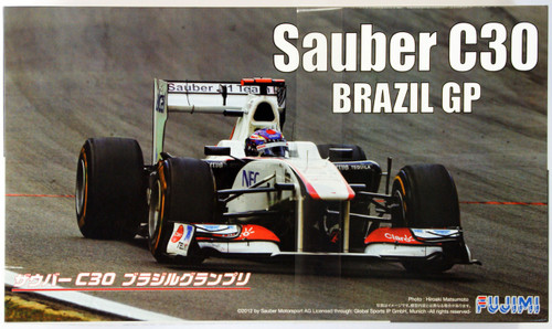 Fujimi GP SP21 F1 Sauber C30 Brazil GP with Helmet 1/20 Scale Kit