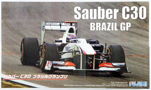 Fujimi GP SP25 F1 Sauber C30 Brazil GP with Driver Figure 1/20 Scale Kit