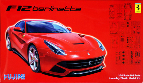 Fujimi RS-54 Ferrari F12 berlinetta with engine 1/24 Scale Kit