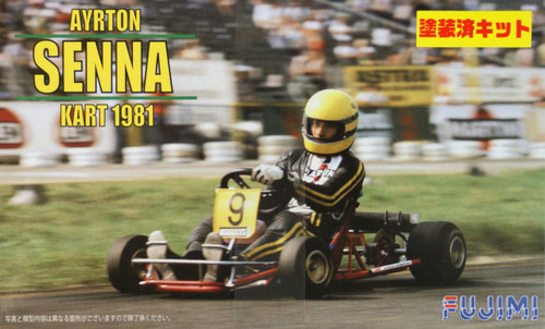 Fujimi KART-SP 091518 Ayrton Senna Kart 1981 (Pre-painted Parts) 1/20 Scale Kit