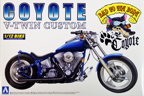 Aoshima Naked Bike 109 Coyote (V-Twin Custom) 1/12 Scale Kit