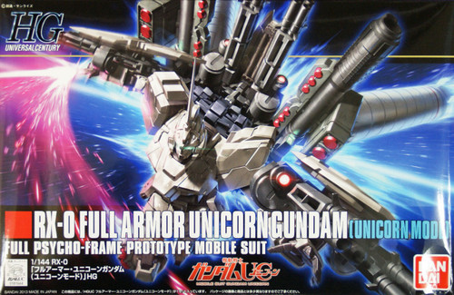 Bandai HGUC 156 RX-0 FULL ARMOR UNICORN Gundam (UNICORN MODE) 1/144 Scale Kit