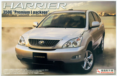 Aoshima 39533 Toyota Harrier 350G Premium L Package 1/24 Scale Kit
