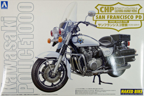 Aoshima Naked Bike 111 Kawasaki San Francisco Police 1000 Wind Shield 1/12 Scale Kit