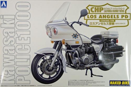 Aoshima Naked Bike 112 Kawasaki Los Angeles Police 1000 Cowling 1/12 Scale Kit