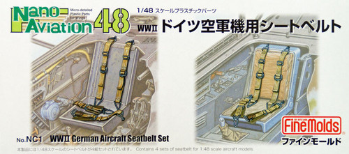Fine Molds NC1 WW2 German Aircraft Seatbelt Set 1/48 Scale Kit