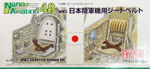 Fine Molds NC3 WW2 IJA Aircraft Seatbelt Set 1/48 Scale Kit
