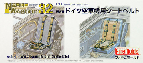 Fine Molds NH1 WW2 German Aircraft Seatbelt Set 1/32 Scale Kit