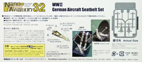 Fine Molds NH1 WW2 German Aircraft Seatbelt Set 1/32 Scale Kit