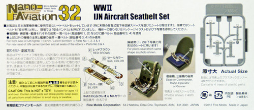Fine Molds NH2 WW2 IJN Aircraft Seatbelt Set 1/32 Scale Kit