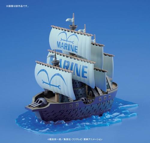 Bandai One Piece Grand Ship Collection 07 Marine WarShip (Plastic Model Kit)