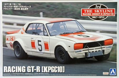 Aoshima 08232 Nissan Skyline Racing GT-R (KPGC10) 1971 Tsukuba 1/24 Scale Kit