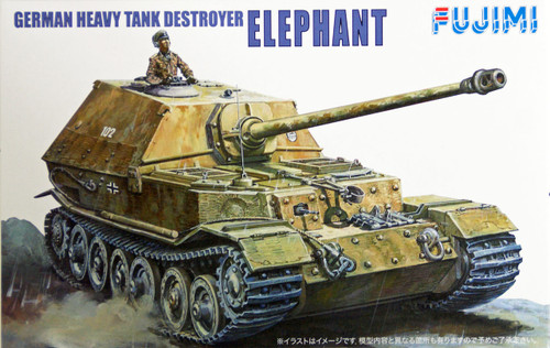 Fujimi WA05 World Armor German Heavy Tank Destroyer Elephant 1/76 Scale Kit