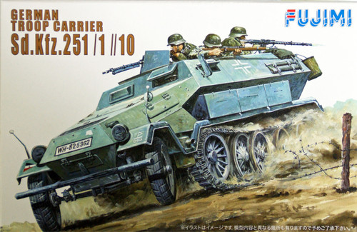 Fujimi WA06 World Armor German Troop Carrier Sd. Kfz. 251/1//10 1/76 Scale Kit
