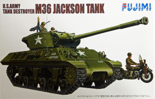 Fujimi WA17 World Armor U.S. Army Tank Destroyer M36 Jackson Tank 1/76 Scale Kit