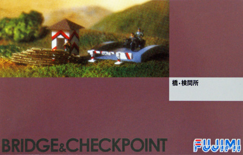 Fujimi WA34 World Armor Bridge & Checkpoint with 6 soldiers 1/76 Scale Kit