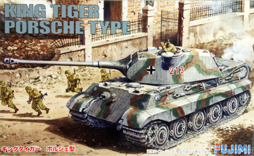 Fujimi SWA07 Special World Armor King Tiger Porsche Type 1/76 Scale Kit