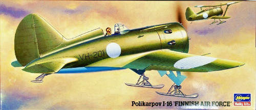 Hasegawa 00926 Polikarpov I-16 Finnish Air Force 1/72 Scale Kit
