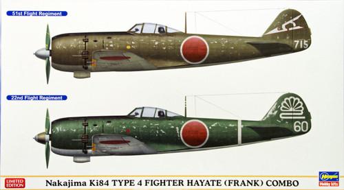 Hasegawa 01979 Nakajima Ki84 Type 4 Fighter Hayate (Frank) Combo 1/72 Scale Kit