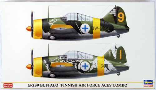 Hasegawa 01992 B-239 Buffalo Finnish Air Force Aces Combo 1/72 Scale Kit
