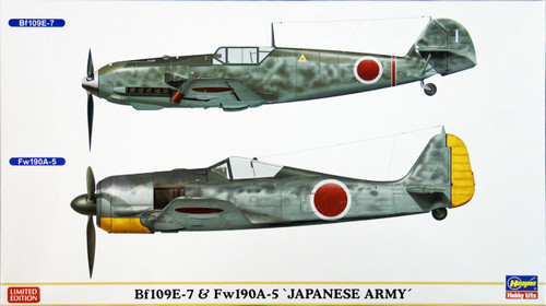 Hasegawa 02014 Bf109E-7 & Fw190A-5 Japanese Army 1/72 Scale Kit