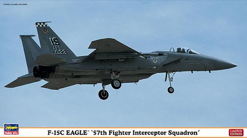 Hasegawa 02015 F-15C Eagle 57th Fighter Interceptor Squadron 1/72 Scale Kit