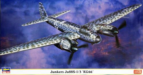 Hasegawa 02016 Junkers Ju88S-1/3 KG66 1/72 Scale Kit