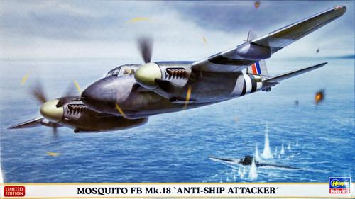 Hasegawa 02024 Mosquito FB Mk.18 Anti-Ship Attacker 1/72 Scale Kit