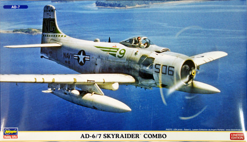 Hasegawa 02027 US Navy AD-6/7 Skyraider COMBO (2 plane set) 1/72 Scale Kit