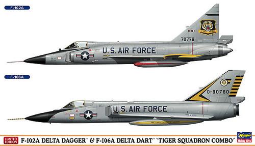 Hasegawa 02035 F-102A Delta Dagger & F-106A Delta Dart (2 plane set) 1/72 Scale Kit
